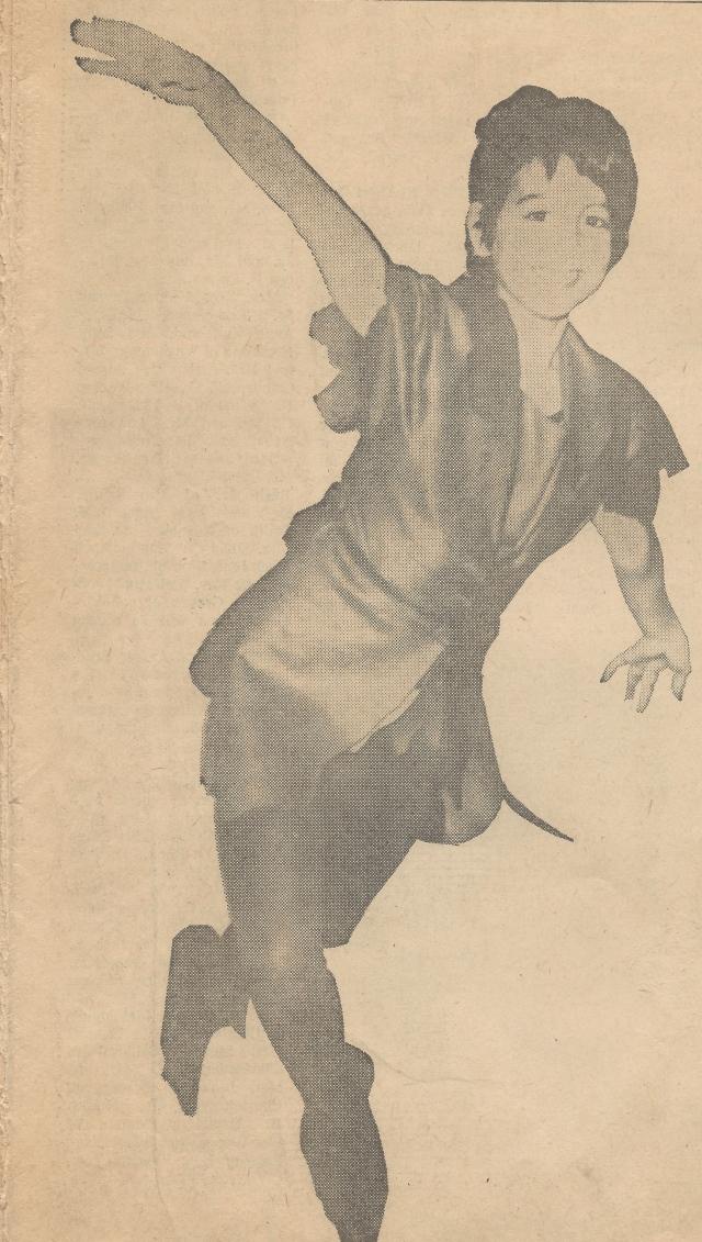 My Sister as Peter Pan circa 1968