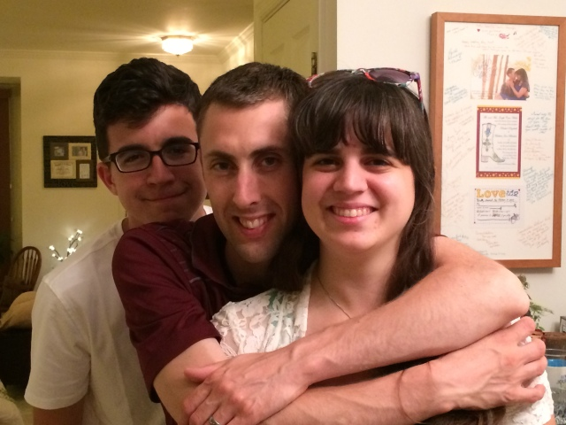 The teenage man-child, the Son-in-Law, and my eldest daughter